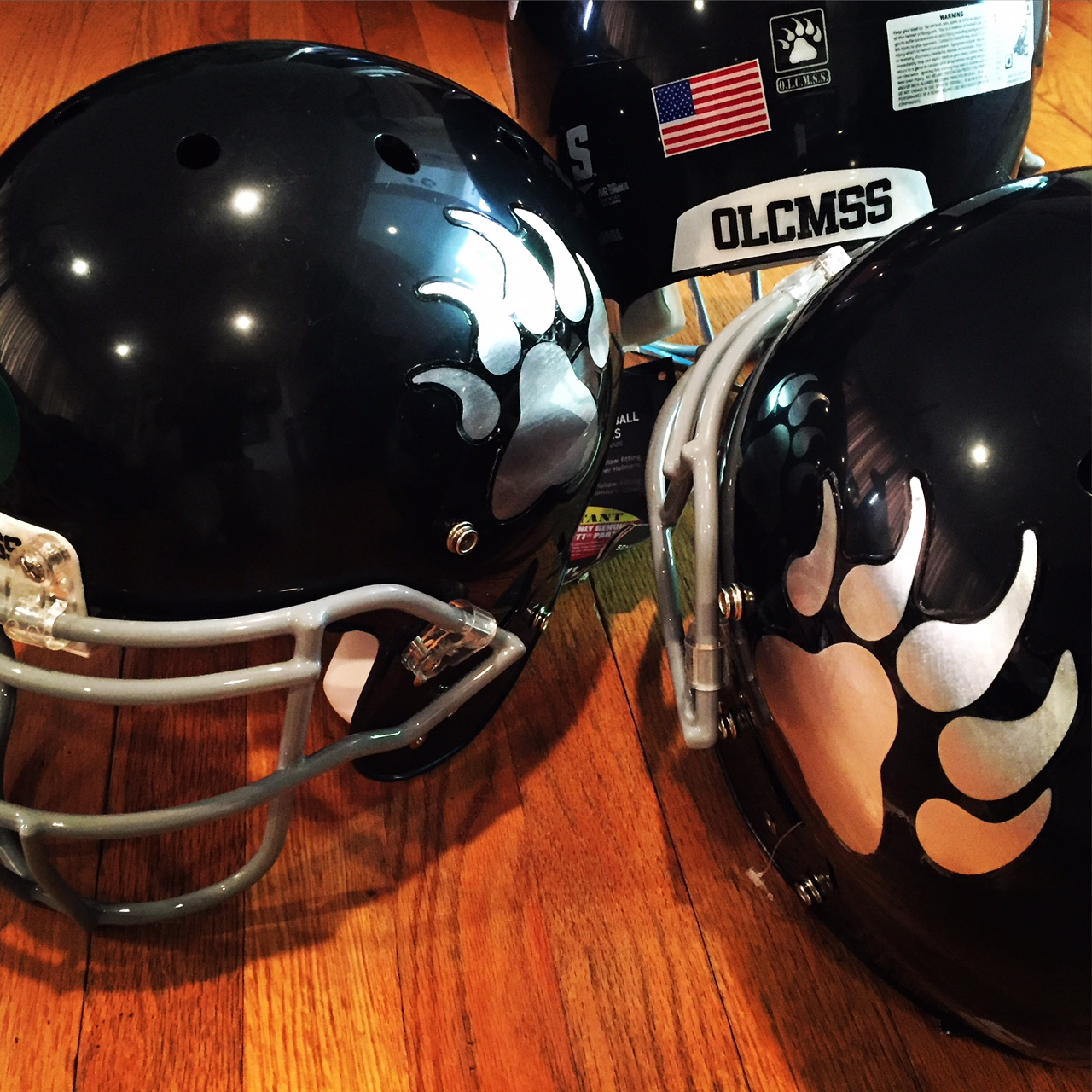 OLCMSS Football Helmet
